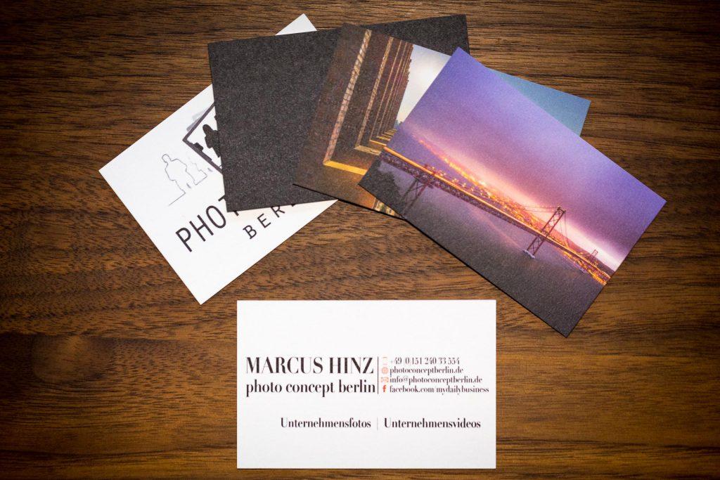 Marcus Hinz Unternehmens Fotografie photo concept berlin Visitenkarten moo.com