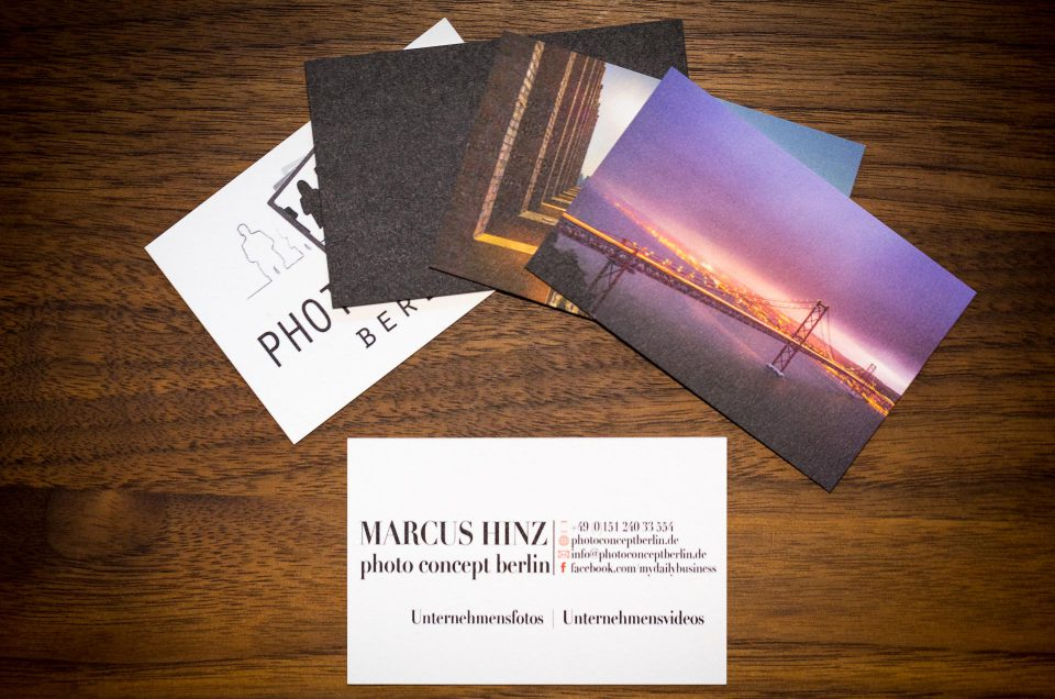 Visitenkarten Archive Photo Concept Berlin
